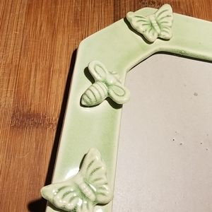 Accents - Butterfly Dragonfly and Bee Green Ceramic Frame